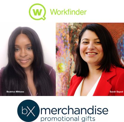 Sarah and Beatrice from promotional gifts company BX Merchandise